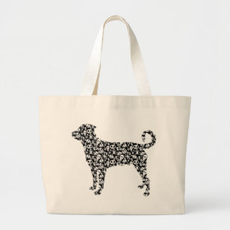 Rottweiler (Undocked Tail) Large Tote Bag