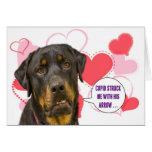 Rottweiler Valentine's Day Card
