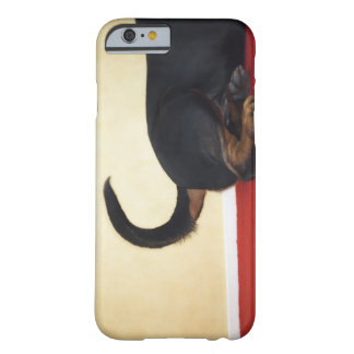 Rottweiler wagging tail, hind section barely there iPhone 6 case