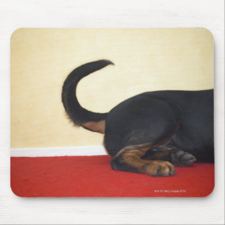 Rottweiler wagging tail, hind section mouse mat