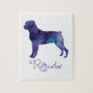 Rottweiler Watercolor Jigsaw Puzzle
