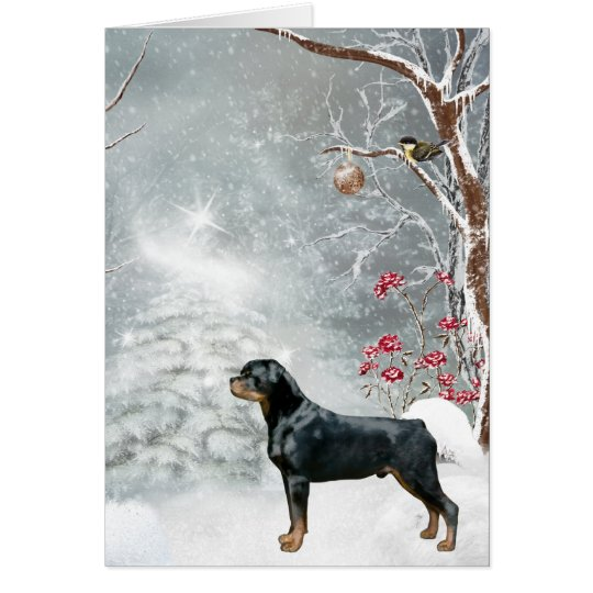 Rottweiler Winter Wonderland Holiday Card
