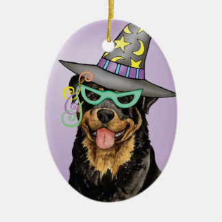 Rottweiler Witch Christmas Ornament