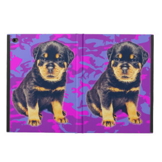 Rottweiler with Blue and Pink Camo Powis iPad Air 2 Case