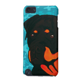 Rottweiler with Blue Camo iPod Touch 5G Cover
