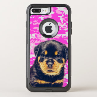 Rottweiler with Pink Camo OtterBox Commuter iPhone 8 Plus/7 Plus Case