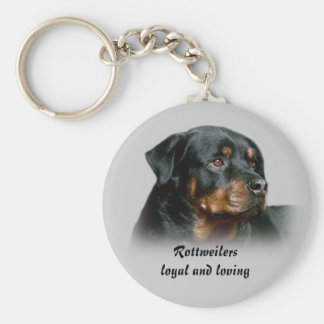 Rottweilers Loyal and Loving Keychain