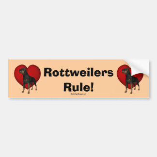 Rottweilers Rule Bumper Sticker