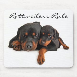 Rottweilers Rule Mom and Puppy Rottweiler Mousepad