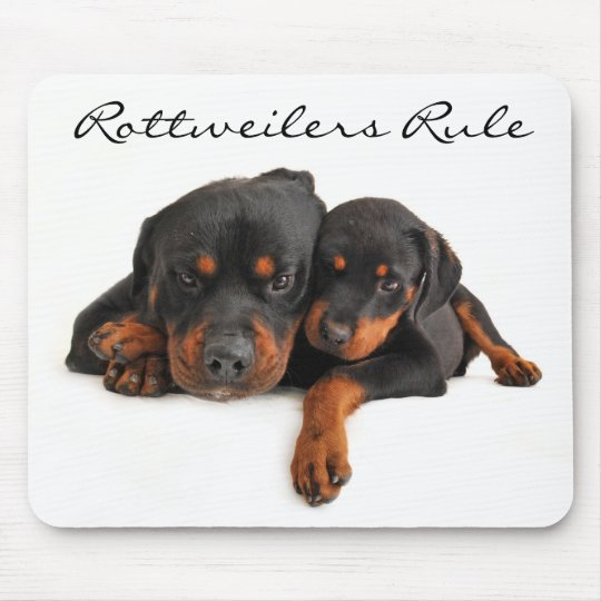 Rottweilers Rule Mum and Puppy Rottweiler Mousepad