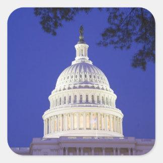 Rotunda of U.S. Capitol at night, Washington Square Sticker