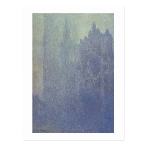 Rouen Cathedral, Foggy Weather, 1894 (oil on canva Postcards
