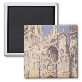 Rouen Cathedral, Full Sunlight by Claude Monet Fridge Magnet