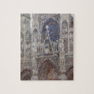 Rouen Cathedral, Grey Weather by Claude Monet Jigsaw Puzzle