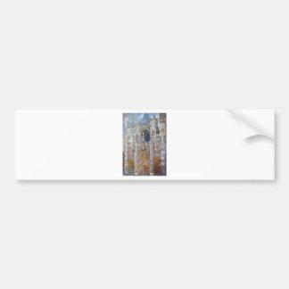 Rouen Cathedral, Magic in Blue by Claude Monet Bumper Sticker
