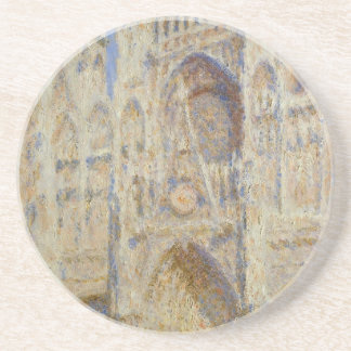 Rouen Cathedral, Portal in the Sun by Claude Monet Sandstone Coaster