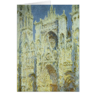 Rouen Cathedral, Sunlight, Claude Monet, Christmas Greeting Card