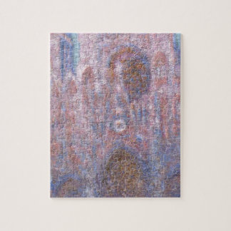 Rouen Cathedral, Symphony in Grey and Rose Jigsaw Puzzle