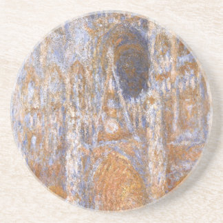 Rouen Cathedral, The Portal at Midday by Claude Sandstone Coaster