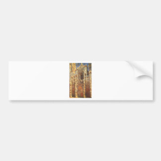 Rouen Cathedral, the Portal by Claude Monet Bumper Sticker