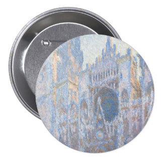 Rouen Cathedral West Facade by Claude Monet 7.5 Cm Round Badge