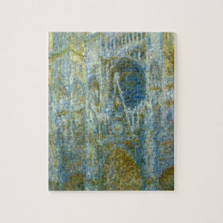 Rouen Cathedral, West Facade, Noon by Claude Monet Jigsaw Puzzle