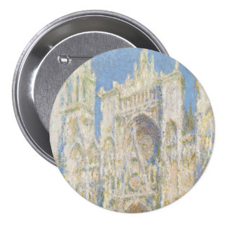Rouen Cathedral West Facade Sunlight by Monet 7.5 Cm Round Badge