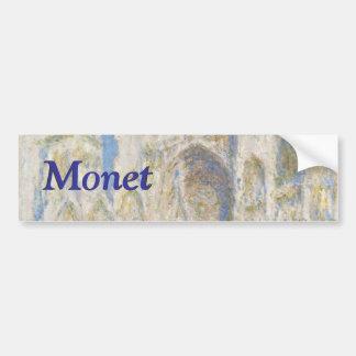 Rouen Cathedral West Facade Sunlight by Monet Bumper Sticker