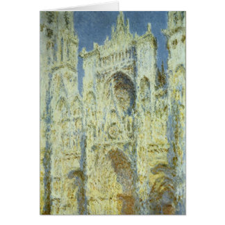 Rouen Cathedral West Facade Sunlight, Claude Monet Card