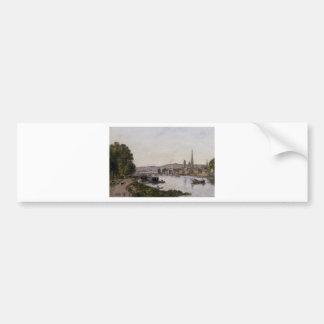 Rouen, View over the River Seine by Eugene Boudin Bumper Sticker