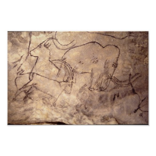 Rouffignac Cave painting Poster