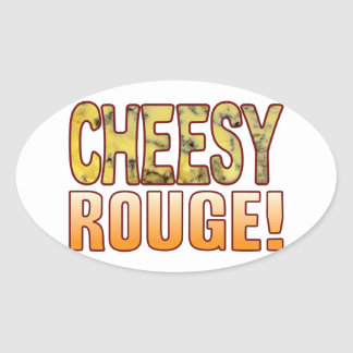 Rouge Blue Cheesy Oval Sticker