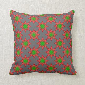 rouge et vert (type africain) patterns throw cushion