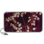 Rouge Floral Doodle Mini Speakers