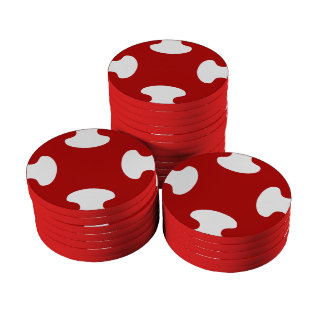 rouge patterns poker chips