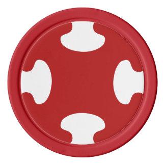 rouge patterns set of poker chips