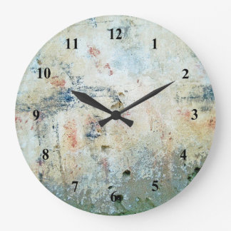 Rough Abstract White Painting Clock