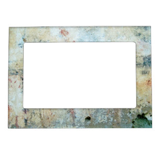 Rough Abstract White Painting Magnetic Frame