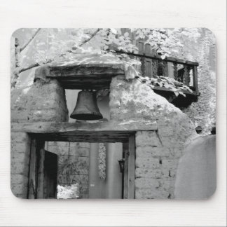 Rough adobe bell in entryway, Santa Fe, New Mouse Mat
