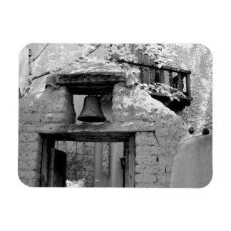Rough adobe bell in entryway, Santa Fe, New Rectangular Photo Magnet
