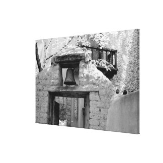 Rough adobe bell in entryway, Santa Fe, New Stretched Canvas Prints