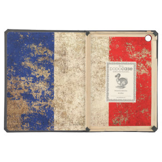 Rough Aged Vintage French Flag Cover For iPad Air
