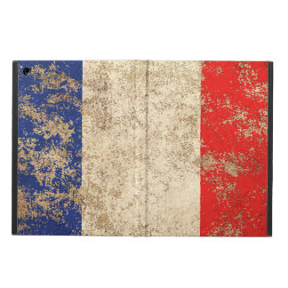 Rough Aged Vintage French Flag iPad Air Covers