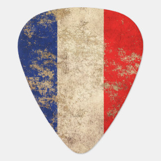 Rough Aged Vintage French Flag Plectrum