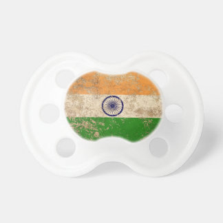 Rough Aged Vintage Indian Flag BooginHead Pacifier