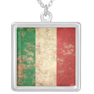 Rough Aged Vintage Italian Flag Jewelry