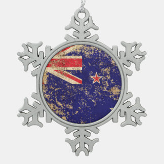 Rough Aged Vintage New Zealand Flag Ornament