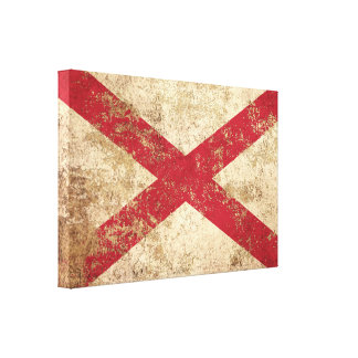 Rough Aged Vintage Northern Ireland Flag Stretched Canvas Prints
