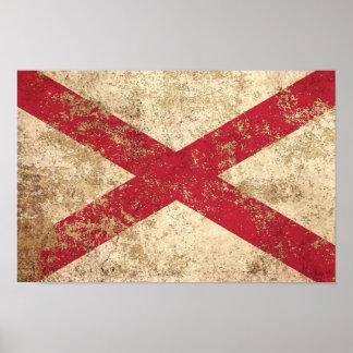 Rough Aged Vintage Northern Ireland Flag Print