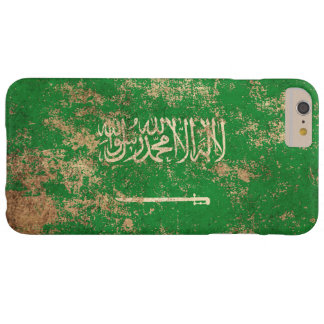 Rough Aged Vintage Saudi Arabian Flag Barely There iPhone 6 Plus Case